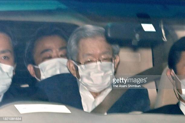 Year-old Prince Hitachi is seen as he leaves the Imperial Palace after taking vaccination for the COVID-19 on June 1, 2021 in Tokyo, Japan.