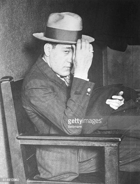8/6/1930Tony Accardo Chicago's Public Enemy is shown seated in a chair hand on the brim of his hat