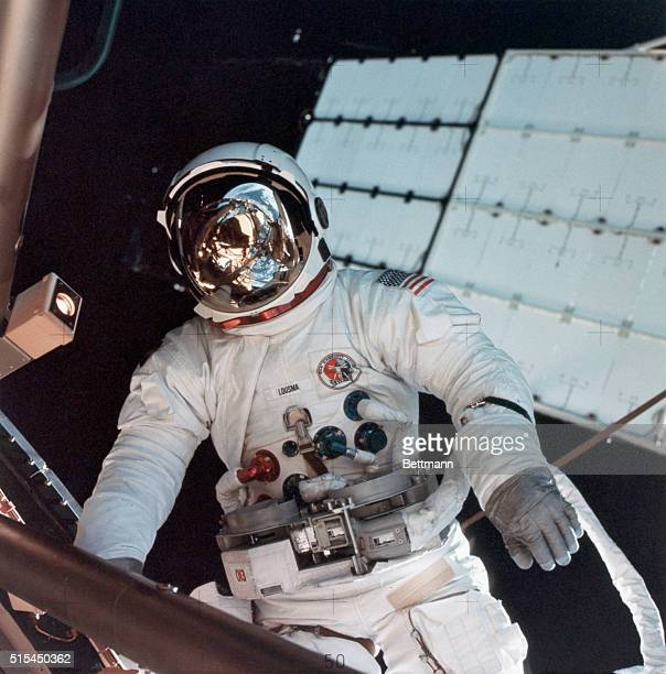 8/6/1973Skylab Space Station Astronaut Jack Lousma participates in the extravehicular activity during which he and astronaut Owen Garriot science...