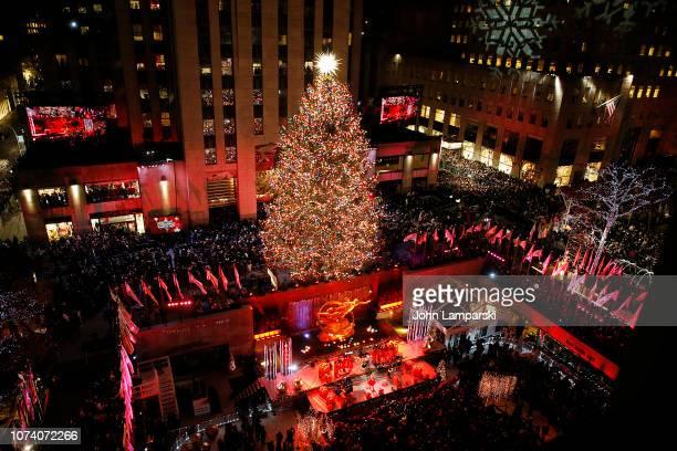 86th Annual Rockefeller Center Christmas Tree Lighting Ceremony at Rockefeller Center on November 28 2018 in New York City