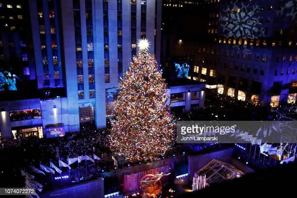 86th Annual Rockefeller Center Christmas Tree Lighting Ceremony at Rockefeller Center on November 28, 2018 in New York City.