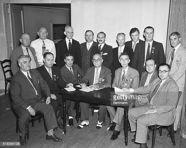 8/8/1934New York NY Executive Committee of the United Textile Workers of America debating whether to call nationwide strike which would affect 825000...