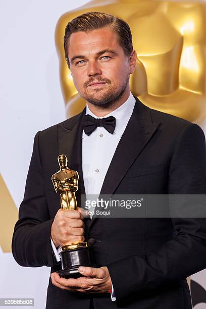 88th Academy Awards press room Actor in a leading role winner Leonardo DiCaprio for the film 'The Revenant'