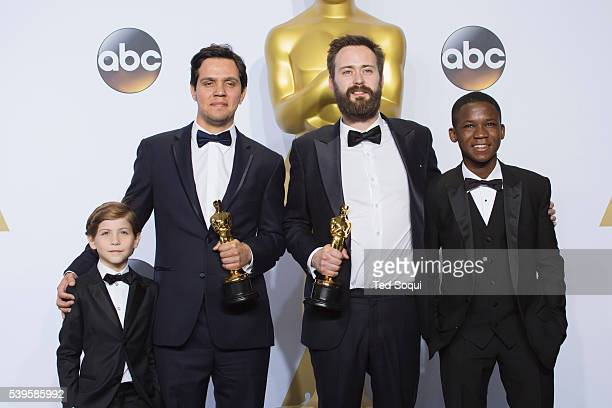 """88th Academy Awards press room Best live action short winners Benjamin Cleary and Shan Christopher Ogiluy for the film """"Stutterer."""""""