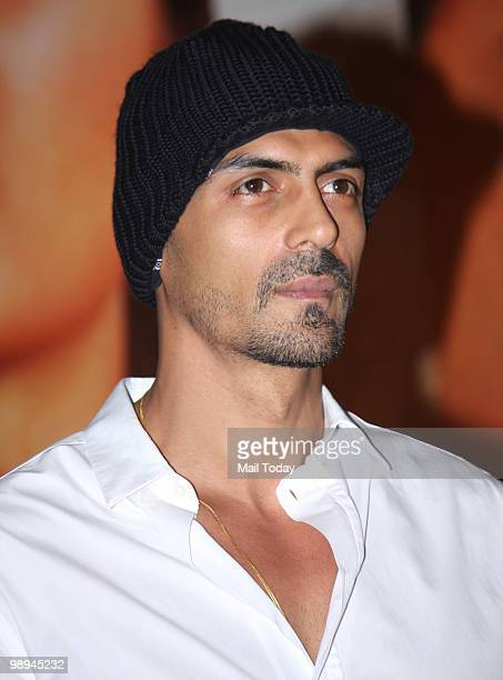 Arjun Rampal at a promotional event for the film Rajneeti in Mumbai on May 8 2010