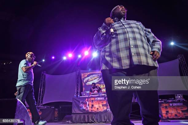 8Ball MJG performs during the Louisville Old School Hip Hop Festival at KFC YUM Center on February 14 2017 in Louisville Kentucky