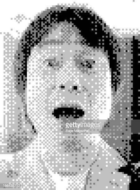 8bit portrait of legendary Japanese video game designer Shigeru Miyamoto creator of seminal video game series such as Super Mario and Donkey Kong...