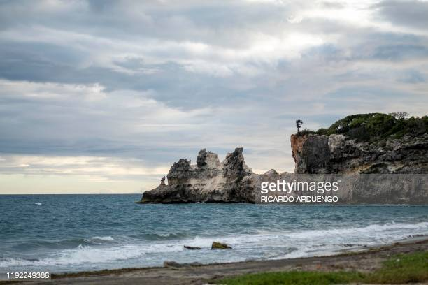 Popular tourist landmark Punta Ventana is destroyed after a 58magnitude earthquake in Guayanilla Puerto Rico on January 6 2020 A 58magnitude...
