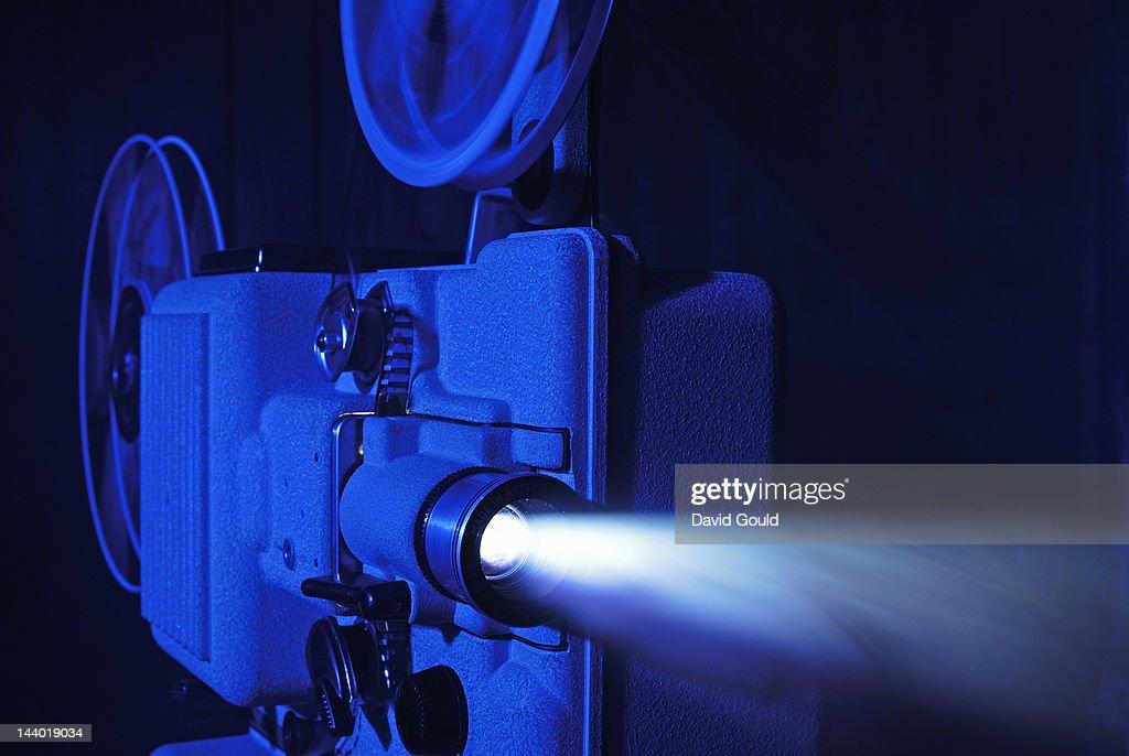 8mm film projector running : Stock Photo
