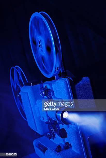 8mm film projector running
