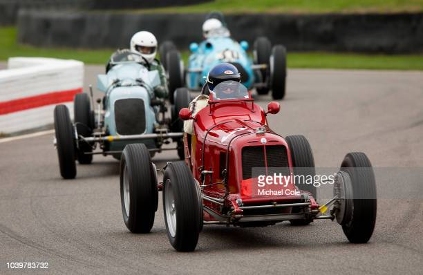 1935 Maserati 4CM driven by Simon Edwards in the Goodwood Trophy race at the 20th anniversary of the Goodwood Revival at Goodwood on September 8th...
