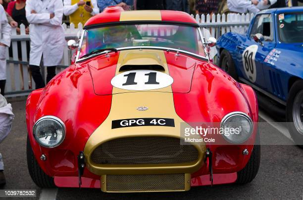 1964 AC Cobra driven by Olivier Bryant/Andrew Smith in the Assembly Area prior to the RAC TT Celebration race at the 20th anniversary of the Goodwood...