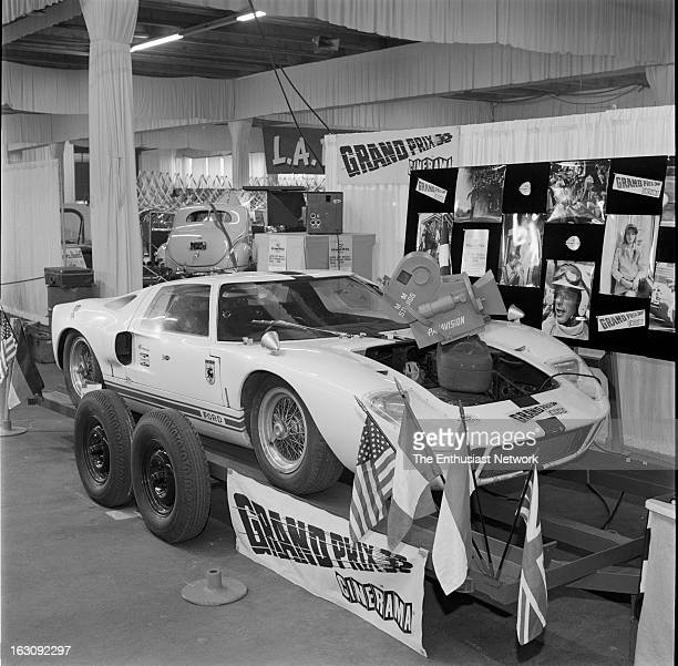 1966 8th Annual International Motorama Great Western Exhibit Center This Ford GT40 was fitted with cameras for the filming of John Frankenheimer 1966...