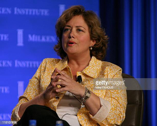 8th Annual Milken Global Conference in Beverly Hills United States on April 20 2005 Hilary Rosen former Chairman and CEO of RIAA at the 'Intellectual...
