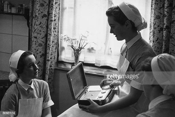 Student nurses at St Bartholomew's Hospital London Original Publication Picture Post 8859 The Truth About Teenagers pub 1957
