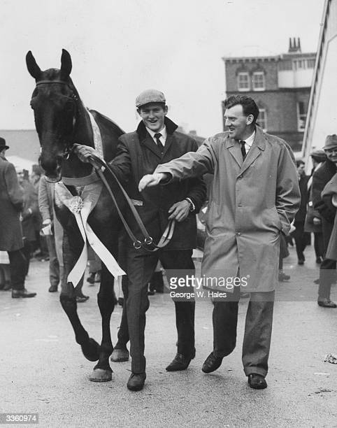 Foinavon the 1001 winner of the 1967 Grand National ridden by John Buckingham is led away after weighing in
