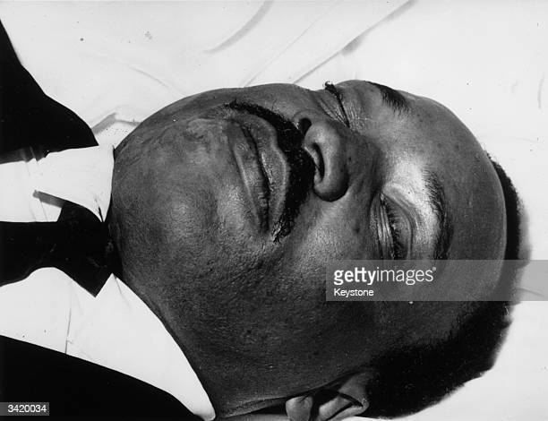 American civil rights activist Martin Luther King after his assassination in Memphis during a civil rights mission