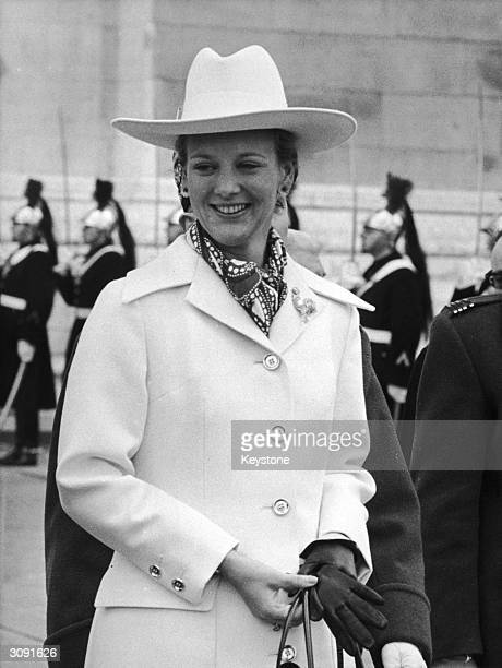 Princess Margrethe who succeeded King Frederick of Denmark in 1972 here seen at the Arc de Triomphe in Paris