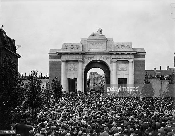 A great march of peace to a ceremony of remembrance taking place at the Menin Gate Ypres The Prince of Wales led 11000 British Legion War Pilgrims to...