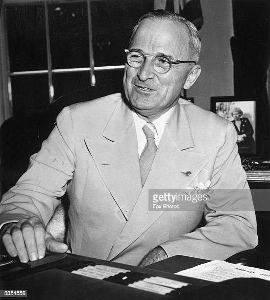 American President Harry S Truman announcing that the Soviet Union is joining the United States Great Britain and other United Nations in the war...