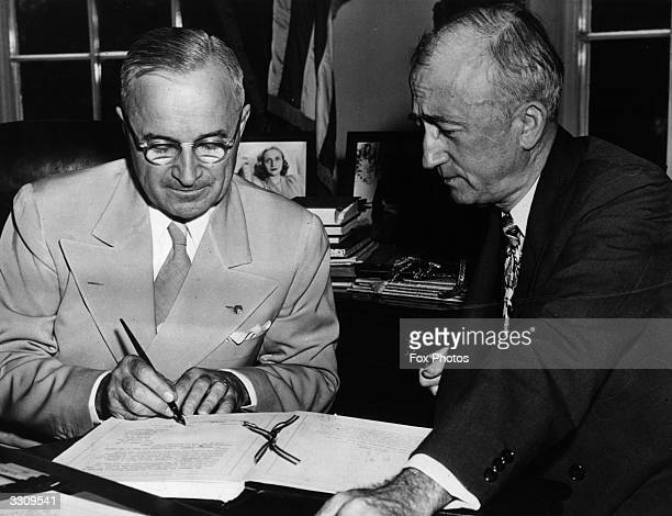 The 33rd American President Harry S Truman ratifies the United Nations charter
