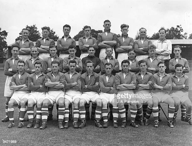 Aldershot FC 1950 football team Front row left to right P Bonnar W Durkin T Sinclair P Gormley C Mortimore A McNicol W Williams N Menzies W Blackwell...