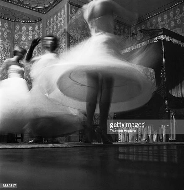 A blur of participants in the Holiday Girl Beauty Competition at the Royal Pavilion in Brighton East Sussex Original Publication Picture Post 6655 TV...