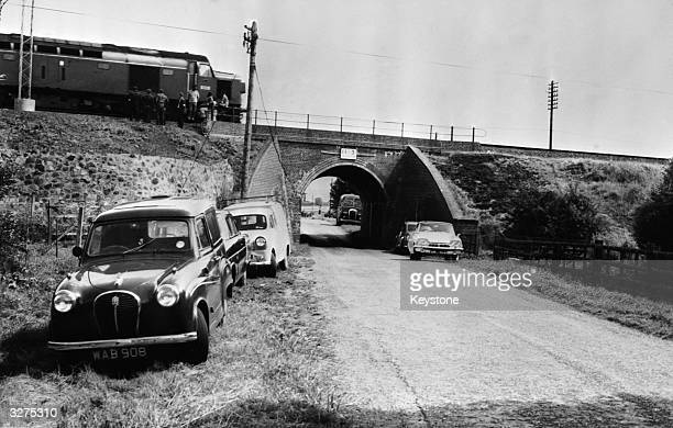 The Mail Train which was stopped on a bridge during 'The Great Train Robbery' so that it could be unloaded