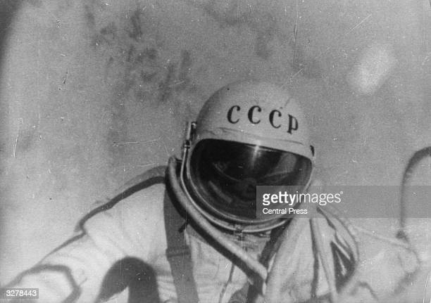 A still from a documentary film 'The Man Walking In Space' which followed Russian astronaut Alexei Arkhipovich Leonov on his famous orbit in the...