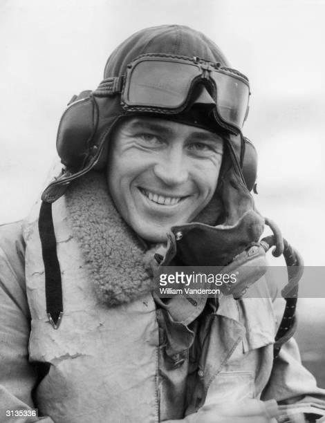 A Czech fighter pilot at a Hurricane air base in England during World War II