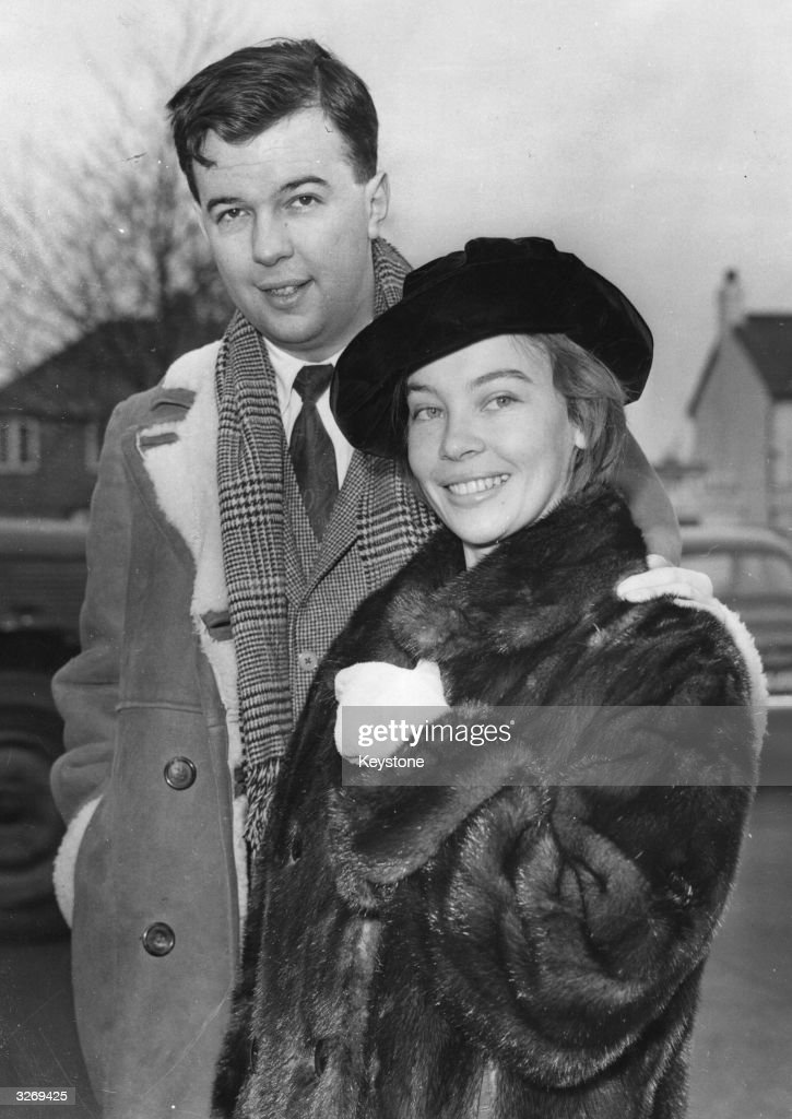 The stage director, Peter Hall and his film star wife, Leslie Caron.