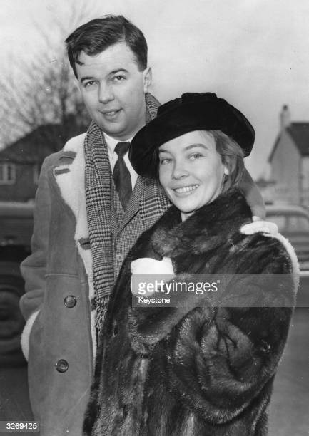 The stage director Peter Hall and his film star wife Leslie Caron
