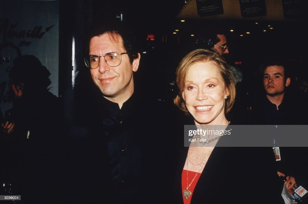 American actor Mary Tyler Moore with her husband, Dr. Robert Levine, at the opening night of, 'Minnelli on Minnelli,' Palace Theater, New York City.