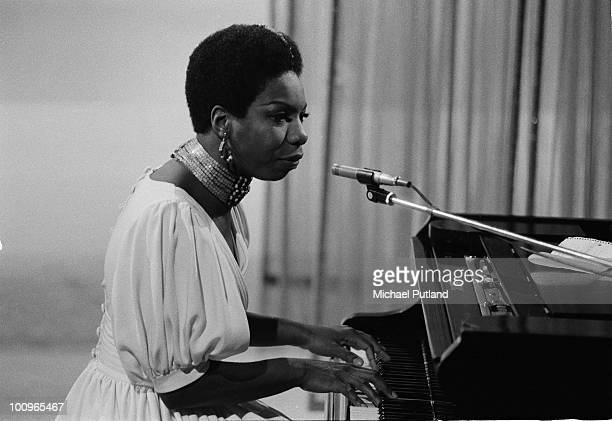 American singersongwriter Nina Simone performing at the piano on the BBC's David Frost Show London 1968