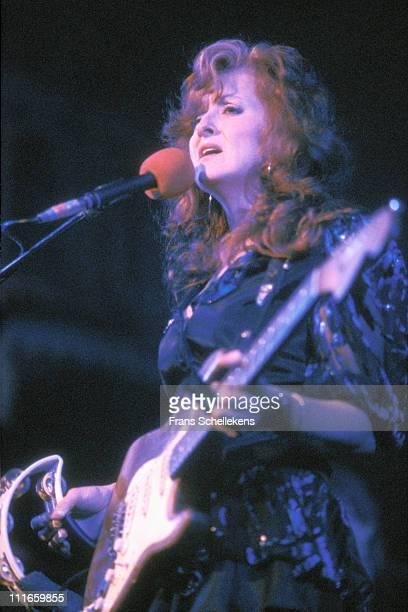 8th DECEMBER: Bonnie Raitt performs live on stage at the Muziektheater in Amsterdam, Netherlands on 8th December 1991.