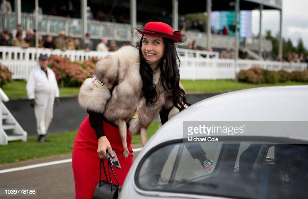 Girlfriend of Grant Williams on the Starting Grid at the 20th anniversary of the Goodwood Revival at Goodwood on September 8th 2018 in Chichester...