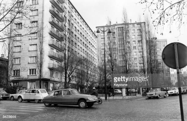 Apartment blocks in the Buttes Chaumont quarter of Paris