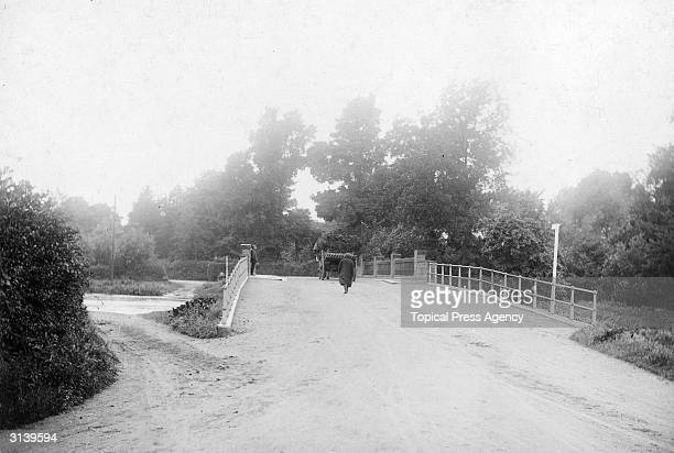 The bridge over the river at Uxbridge, part of the 1908 Olympic marathon course in London.