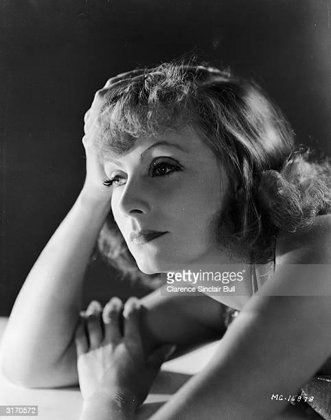Greta Garbo in reflective mood.