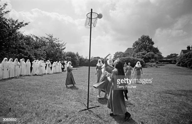 Nuns at Ladywell Convent playing netball