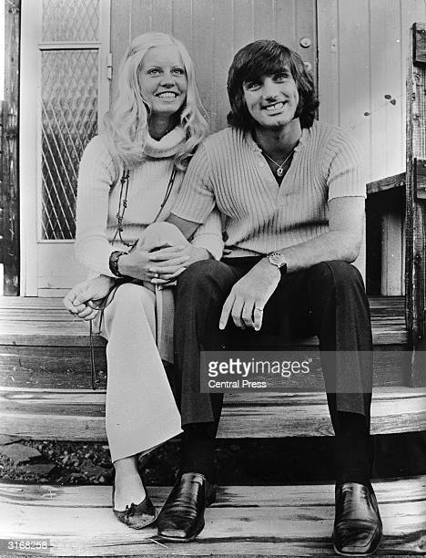 Footballer George Best with the new love of his life Swedish nurse Siv Hederby