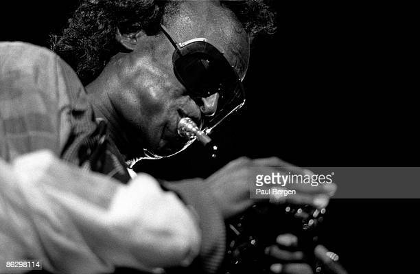 American jazz musician and composer Miles Davis performs live on stage at the North Sea Jazz Festival in the Hague Netherlands on 8th July 1988
