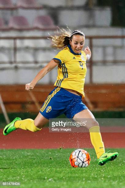 Kosovare Asllani of Sweden Women during the match between Sweden v Russia Women's Algarve Cup on March 8th 2017 in Albufeira Portugal