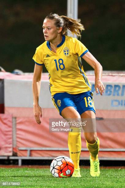 Lotta Schelin of Sweden Women during the match between Sweden v Russia Women's Algarve Cup on March 8th 2017 in Albufeira Portugal