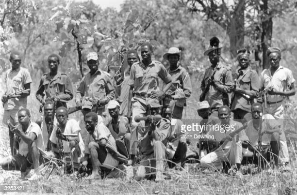 Guerrillas of the 'Venom Army' fighting the government troops in southern Sudan