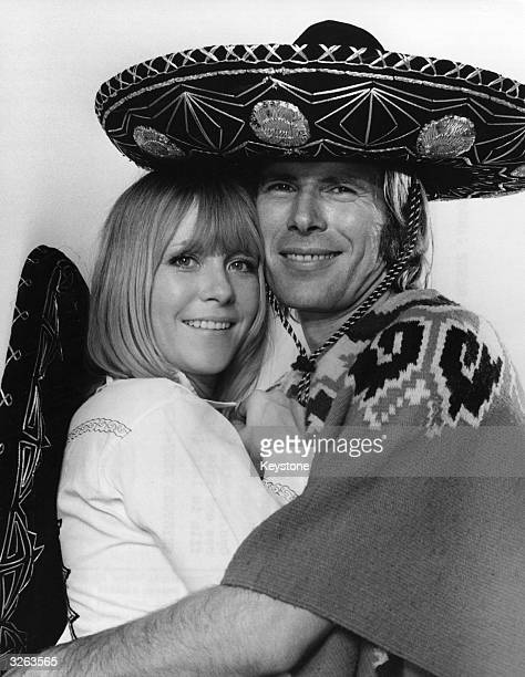 Husband and wife actors Monika Lundi and Horst Janson wear sombreros in preparation for shooting 'Dead Men Take No Gold' in Mexico