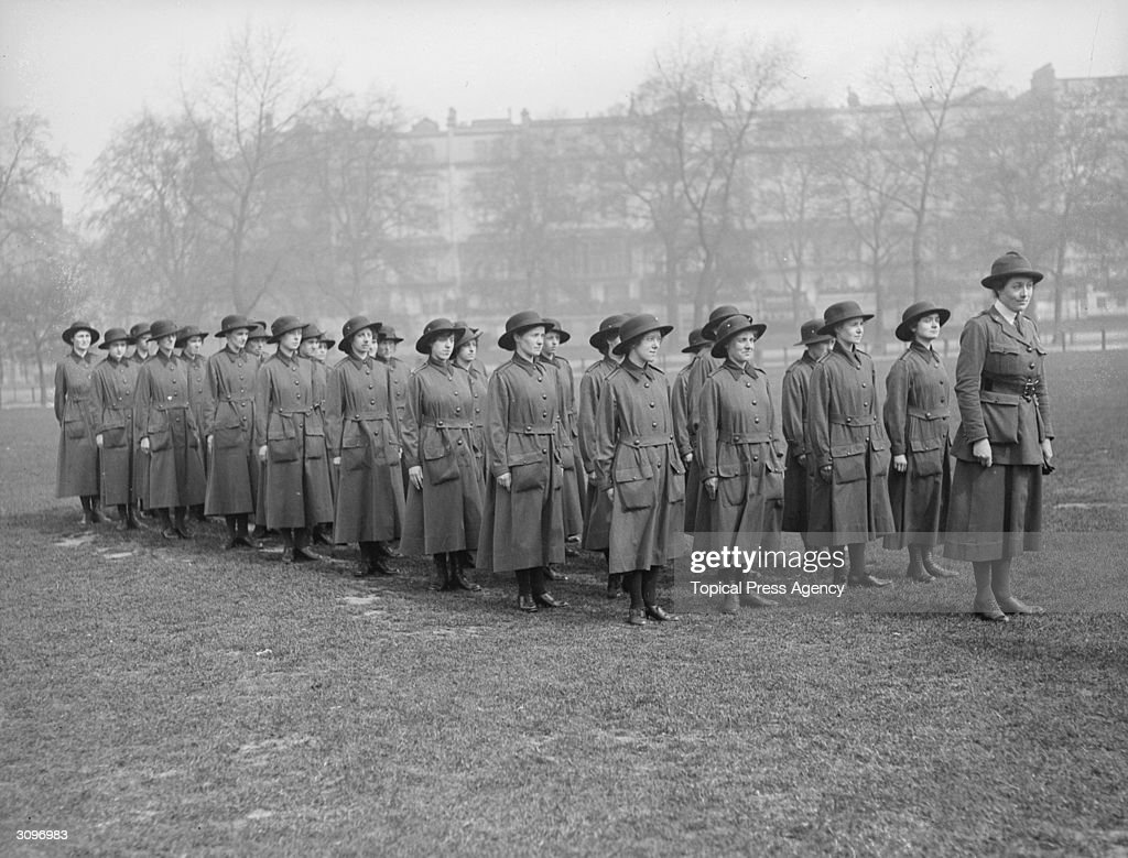 Women's Army Corps recruits drill.