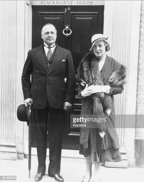Edmund Maurice Burke Roche Baron Fermoy and his wife Lady Fermoy after attending a society wedding They are the grandparents of Lady Diana Spencer...