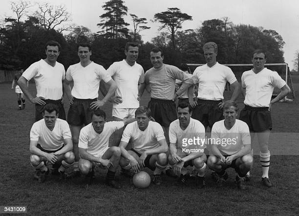 The England team which will play Switzerland Jimmy Armfield Bobby Robson Peter Swan Ron Springett Lowers and Ray Wilson John Connelly Jimmy Greaves...