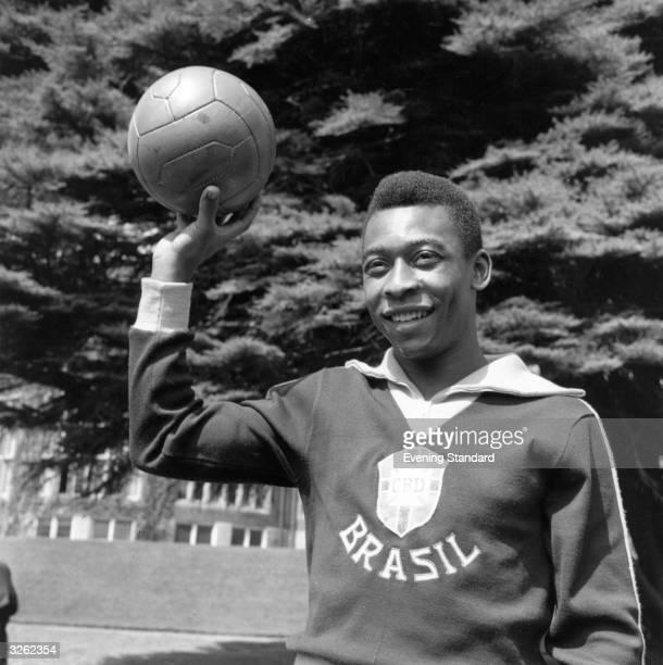 Brazilian footballer Edson Arantes do Nascimento better known as Pele Pub Evening Standard
